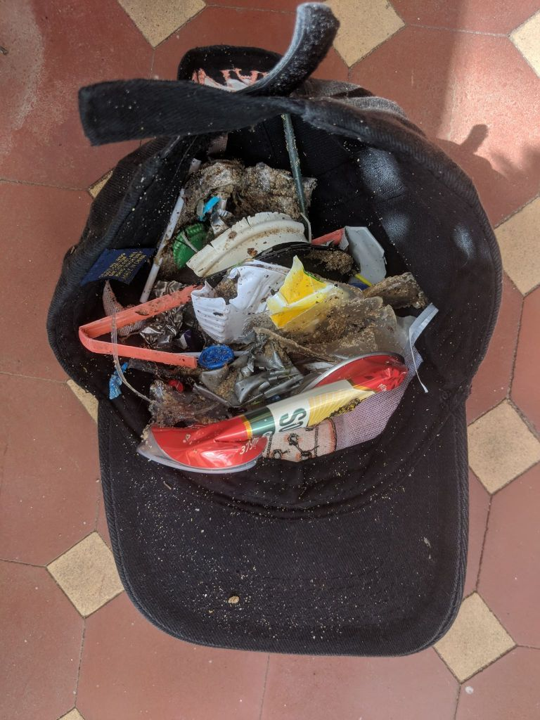 Rubbish collected from five minutes on the beach.